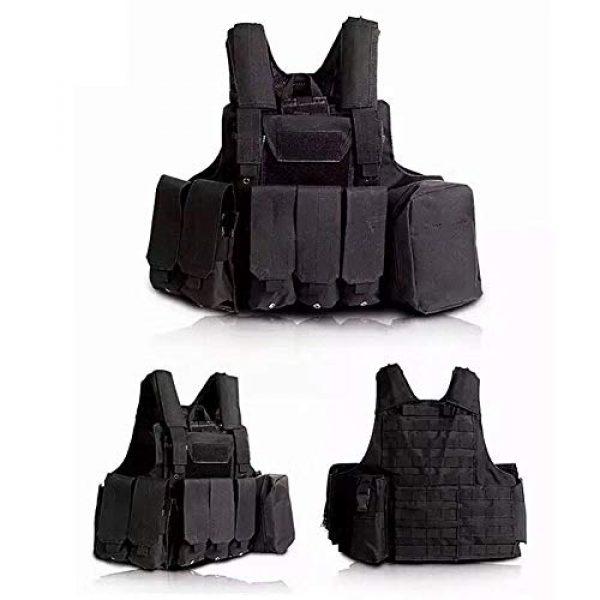 GXYWAN Airsoft Tactical Vest 2 GXYWAN Tactical Vest, Ghost Anti-War Vest Combat Suit Camouflage Wire Vest Eight-Piece Suit Camouflage Combat Vest
