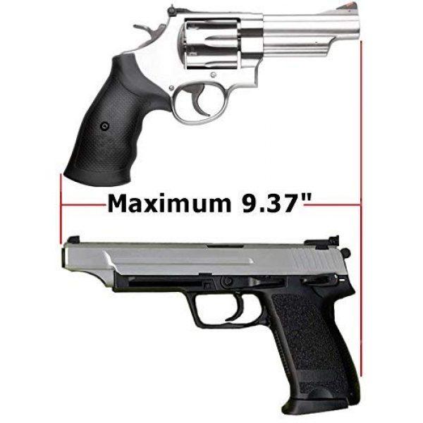 Case Club Pistol Case 5 Case Club 32 Pistol Pre-Cut Waterproof Case with x2 Silica Gel to Help Prevent Gun Rust