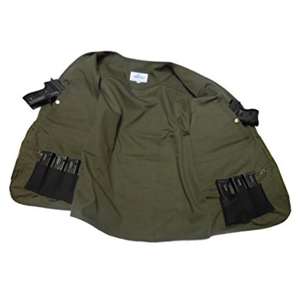 BLUE STONE SAFETY Airsoft Tactical Vest 3 Blue Stone Safety YKK Zippers Throughout Entire Concealment Vest