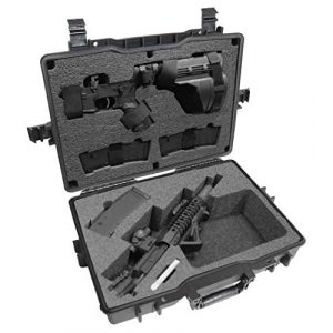 Case Club Rifle Case 1 Case Club Compact AR-15 Pre-Cut Waterproof Case with Silica Gel to Help Prevent Gun Rust (Gen 2)