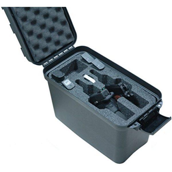 Case Club Pistol Case 1 Case Club 2 Revolver/Pistol Pre-Cut Top Loader Case with Silica Gel to Help Prevent Gun Rust