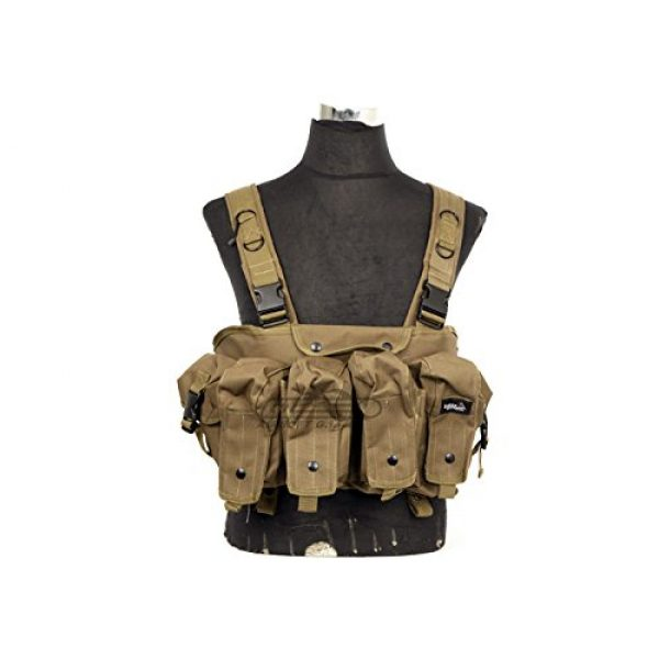 Lancer Tactical Airsoft Tactical Vest 5 Lancer Tactical CA-308T AK Chest Rig in Tan