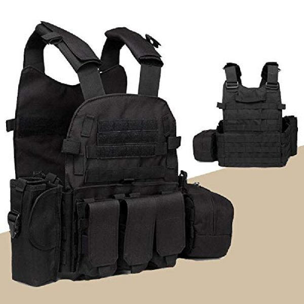BGJ Airsoft Tactical Vest 4 Outdoor Airsoft Gear 6094 Tactical Molle Vest Paintball CS Games Protection Body Armor Military Shooting Combat Training Vest