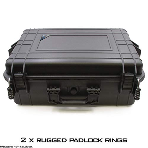 """CASEMATIX Pistol Case 6 CASEMATIX 23"""" Customizable 7 Pistol Multiple Pistol Case - Waterproof & Shockproof Hard Gun Cases for Pistols, Magazines and Accessories - Multi Gun Case for Pistols with Two Layers of 2"""" Thick Foam"""