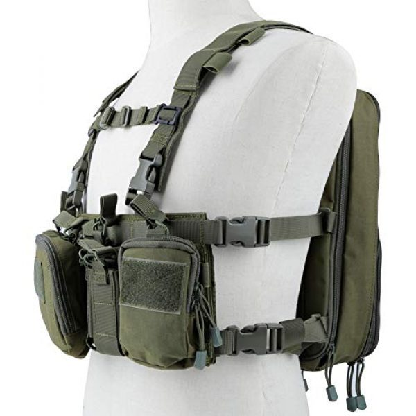 Huenco Airsoft Tactical Vest 1 Huenco Tactical Assault Chest Rig 500D Molle Multicam Tactical Vest with Multi-Pockets + Tactical MOLLE Military Day Pack