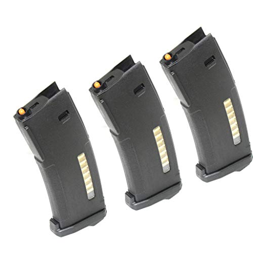 Generica  1 Airsoft Spare Parts PTS 3pcs 30/120rd Mag EPM Magazine for Tokyo Marui Recoil Shock Next Generation M4 Scar 416D AEG Black
