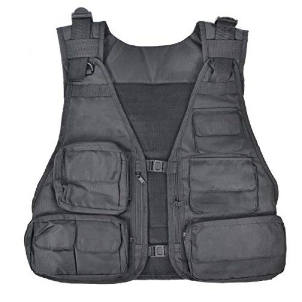Alomejor Airsoft Tactical Vest 1 Alomejor Outdoor Sport Vest with Multi-Pocket Adjustable Breathable Vest Multifunctional Quick Dry Waistcoat for for Hiking Fishing Camping Hunting Shooting