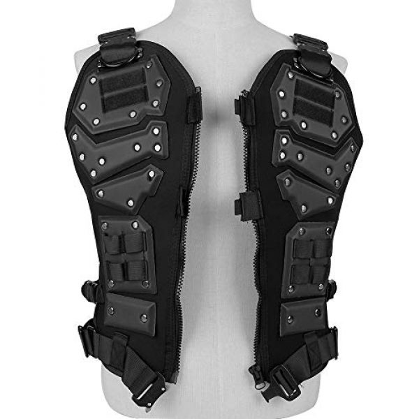 BGJ Airsoft Tactical Vest 4 Tactical Vest Protective Multi-Functional Body Armor Outdoor Airsoft Paintball CS Wargame Protection Equipment Molle Vests