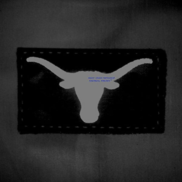 Tactical Freaky Airsoft Morale Patch 2 Texas Longhorn Multicam Infrared IR 3.5x2 IFF Tactical Morale Fastener Patch