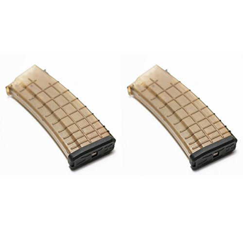 Airsoft Shopping Mall  1 Airsoft Shooting Gear 2pcs Pack CYMA 170rd Mid-Cap Waffle Magazine for AK-Series AEG Semi Transparent