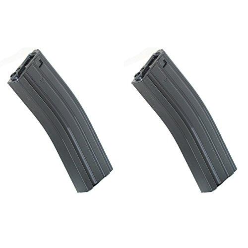 Airsoft Shopping Mall  1 Airsoft Shooting Gear 2pcs 500rd Winding Hi-Cap Mag Magazine For M-Series AEG Black