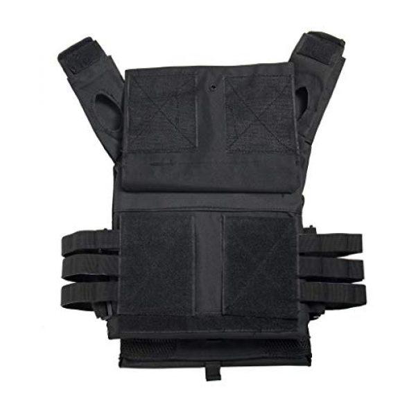Jipemtra Airsoft Tactical Vest 7 Jipemtra Tactical Airsoft Vest for Kids Outdoor Molle Breathable JPC Vest Game Protective Vest Adjustable Modular Chest Set Vest CS Field Vest Training Vest (Tan #1)