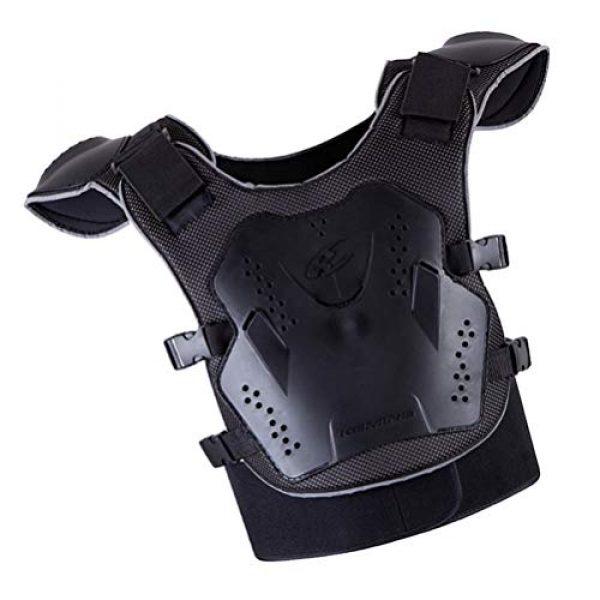 BESPORTBLE Airsoft Tactical Vest 5 BESPORTBLE Children Protective Vest Gear Safety Armour Jacket Protection Vest Protective Gear for Sports Kids Outdoor (Black)