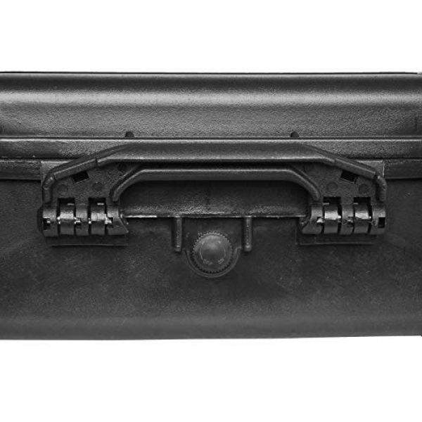 Case Club Pistol Case 5 Case Club 4 Pistol and (up to) 29 Magazine with Accessory Pocket Pre-Cut Heavy Duty Waterproof Case with Silica Gel Canister to Help Prevent Gun Rust (Upgraded Gen-2)