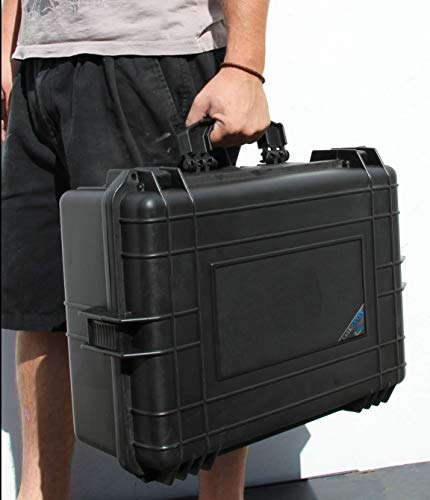 """CASEMATIX Pistol Case 7 CASEMATIX 23"""" Customizable 7 Pistol Multiple Pistol Case - Waterproof & Shockproof Hard Gun Cases for Pistols, Magazines and Accessories - Multi Gun Case for Pistols with Two Layers of 2"""" Thick Foam"""