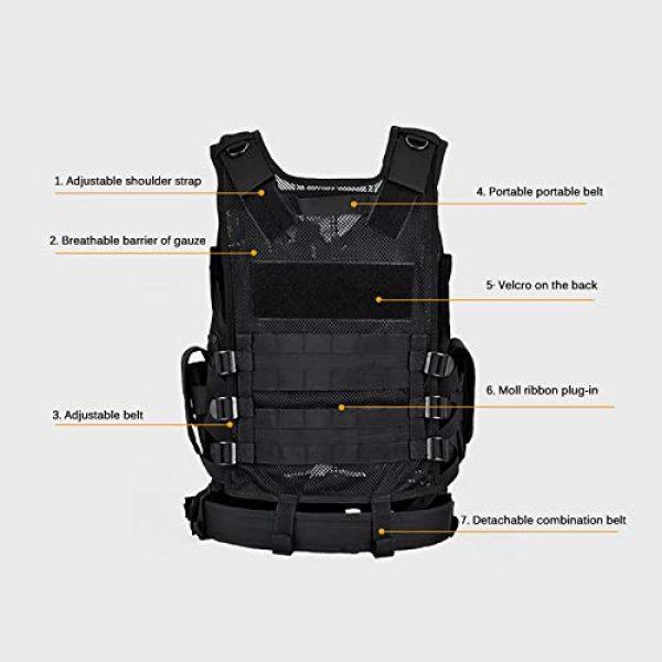 A0ZBZ Airsoft Tactical Vest 4 A0ZBZ Tactical Vest, Multi-Pocket Sports Vest, Polyester Adjustable Lightweight Combat-Vest for Games or Training, Outdoor Hunting Hiking Equipment
