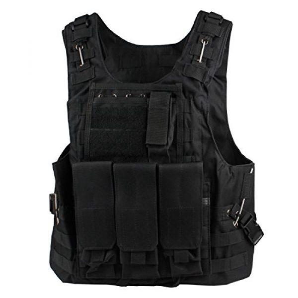 Andux Airsoft Tactical Vest 1 Andux Land Airsoft Assault Vest Paintball Combat Vest Tan Adult ZSBS-01