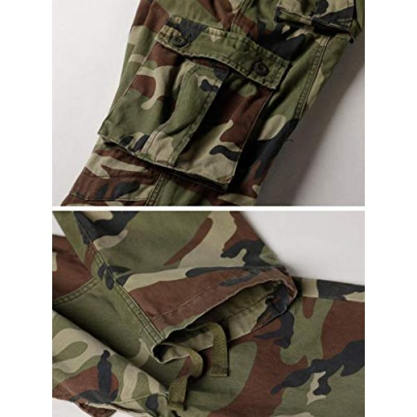 TRGPSG Tactical Pant 5 Women's Casual Combat Cargo Pants, Cotton Outdoor Camouflage Military Multi Pockets Work Pants 8
