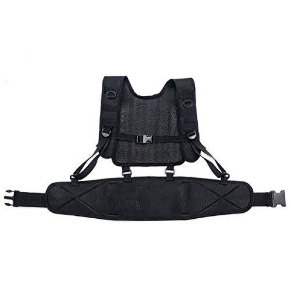 Shefure Airsoft Tactical Vest 4 Shefure Tactical H-Harness Waist Battle Belt Suspenders Hunting Molle Vest Chest Rig