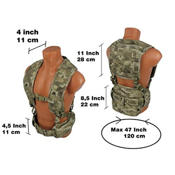 tactic.world Airsoft Tactical Vest 2 MOLLE Modular Tactical Chest rig Vest Airsoft Paintball
