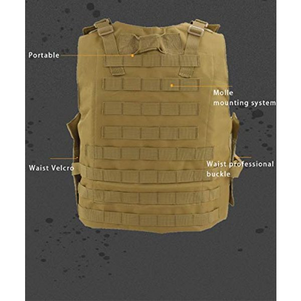 BGJ Airsoft Tactical Vest 2 Tactical Plate Carrier Hunting Vest Military Vest Airsoft Gear Body Armor Army Tactical Vests Military Hunting Accessoris