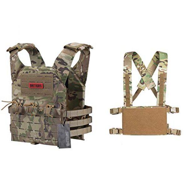 OneTigris Airsoft Tactical Vest 1 OneTigris Multicam Laser-Cut Modular Vest & Chest Rig for Men