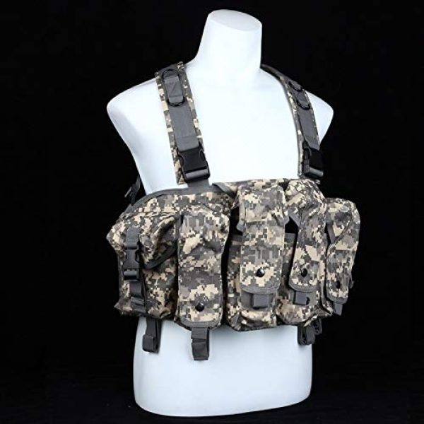 Shefure Airsoft Tactical Vest 2 Shefure CQC AK Chest Rig Molle Tactical Vest Military Army Equipment AK 47 Magazine Pouch Outdoor Airsoft Paintball Hunting Vest