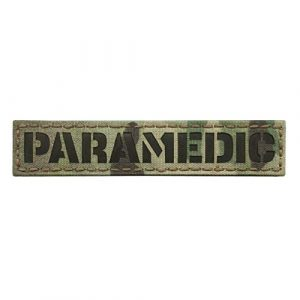 Tactical Freaky Airsoft Morale Patch 1 IR Multicam Paramedic 1x5 Name Tape EMS EMT Medic Tactical Hook&Loop Patch