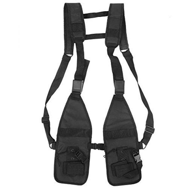Alomejor Airsoft Tactical Vest 7 Alomejor Tactical Training Vest Simple Adjustable Vest Chest Backpack Army Fans Tactical Vest Outdoor Fitness Sports Training Suit for Airsoft Paintball Training