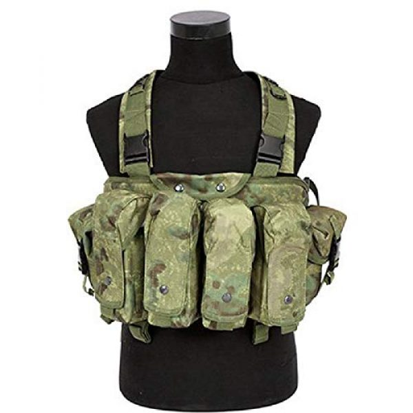 BGJ Airsoft Tactical Vest 4 BGJ Outdoor AK 47 Magazine Carrier Combat Vest Military Camouflage Tactical Vest Airsoft Ammo Chest Rig Hunting Gear