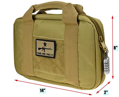 JFFCE Pistol Case 2 JFFCE Tactical Pistol Storage case for Single Pistol and Mag with Heavy Duty Double Zippers