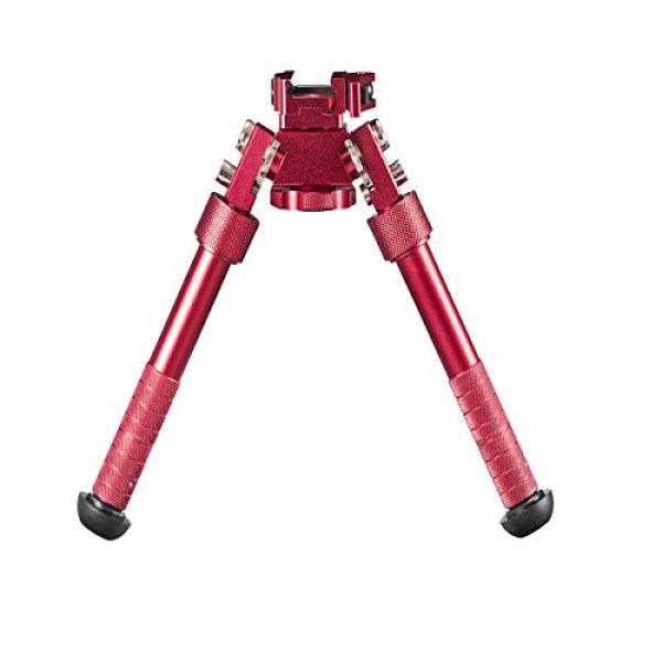 "Gazelle Trading Airsoft Gun Barrel Bipod 1 Gazelle Trading 7""-10"" Tactical Bipod QD Picatinny RIS Rail Mount Foldable Adjustable Rifle Monopods"