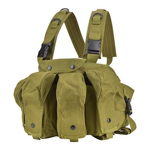 Yosoo Airsoft Tactical Vest 1 Yosoo Tactics Training Bag,Nylon Outdoor Tactics Vest Military Fan Camouflage Waistcoat Training Bag Equipment
