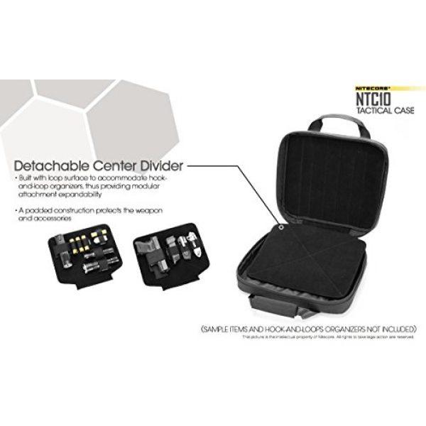 Nitecore Battery Case 4 Nitecore NTC10 Tactical Gear Carry case with EdisonBright BBX3 Battery case