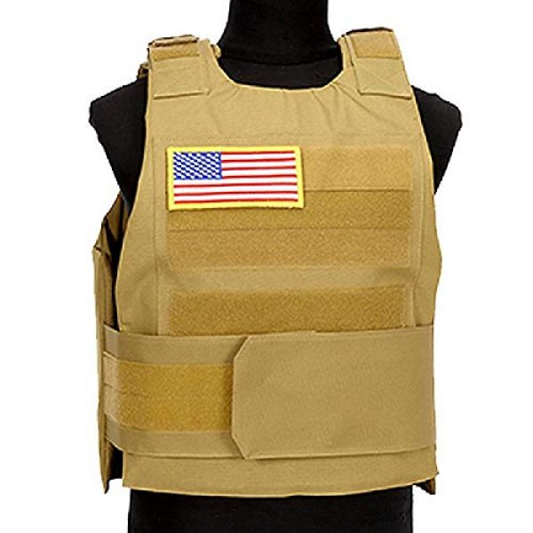 BGJ Airsoft Tactical Vest 3 Hunting Combat CS Vest Black Hawk Green Sports Vest Down Body Armor Plate Tactical Airsoft Carrier Vest CB Camo Woodland Outdoor