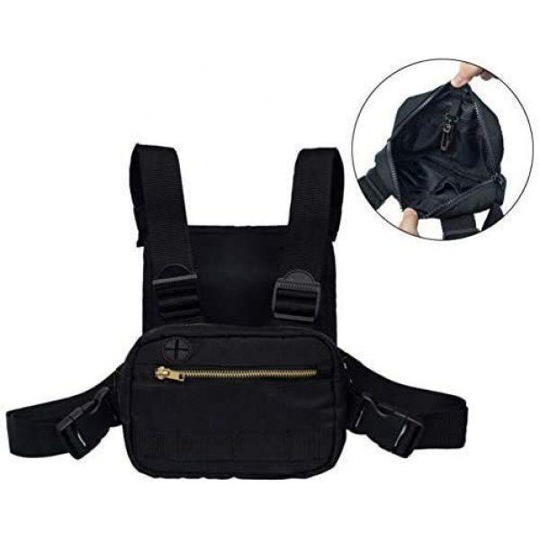Flightbird Airsoft Tactical Vest 2 Flightbird Chest Outdoor Sports Chest Bag,Tactical Chest Bag, Men's and Women's Equipment. Leisure Running