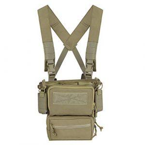 OAREA Airsoft Tactical Vest 1 OAREA Hunting Tactical Vest Magazine Pouch Modular Chest Rig Set Drop Pouch 3PCS Mag Insert Set