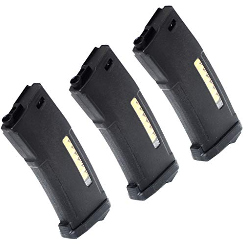 Generica  1 Airsoft Spare Parts 3pcs Pack PTS EPM 150rd Enhanced Polymer Magazine for M4 M16 Series AEG Black