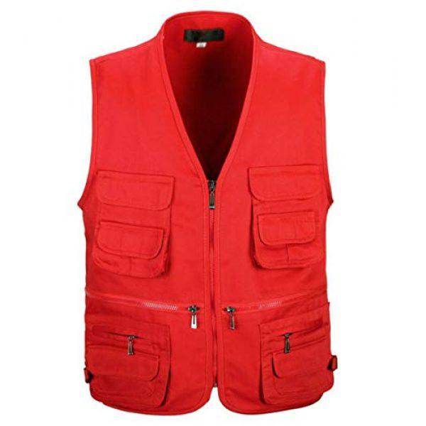 DAFREW Airsoft Tactical Vest 1 DAFREW Men's Vest Camera Vest Outdoor Leisure Fishing Vest Multi-Pocket Vest (Color : Red, Size : M)