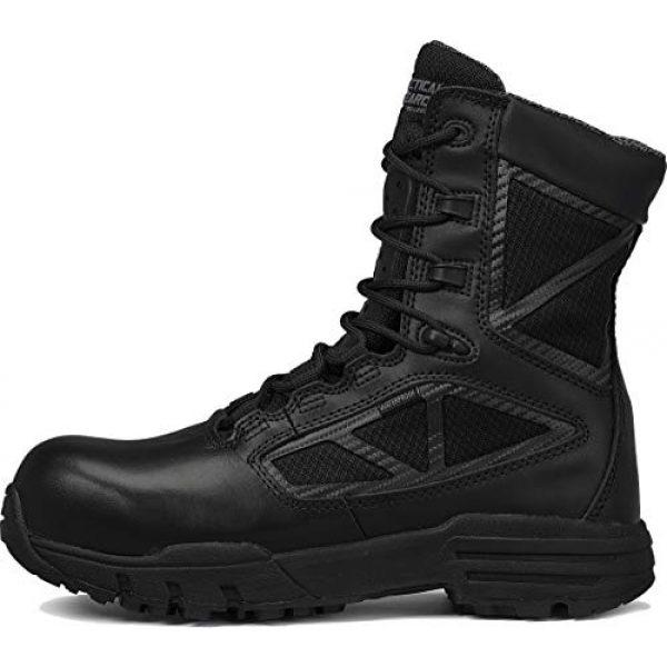 """Belleville Tactical Research TR Combat Boot 3 Belleville Tactical Research TR Men's TR Chrome TR998Z WP CT 8"""" Waterproof Side-Zip Composite Toe Boot"""