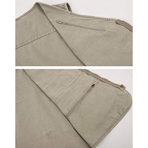 DAFREW Airsoft Tactical Vest 4 DAFREW Men's Outdoor Vest, Spring and Autumn Casual Outdoor Vest, Multi-Pocket Photography Cotton Fishing Vest (Color : Blue, Size : XXL)