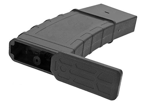 LONEX  2 Lonex AIRSOFT M4 M16 SCAR PLASTIC BLACK FLASH PMAG MAGAZINE 360RDS ASG PULL CORD