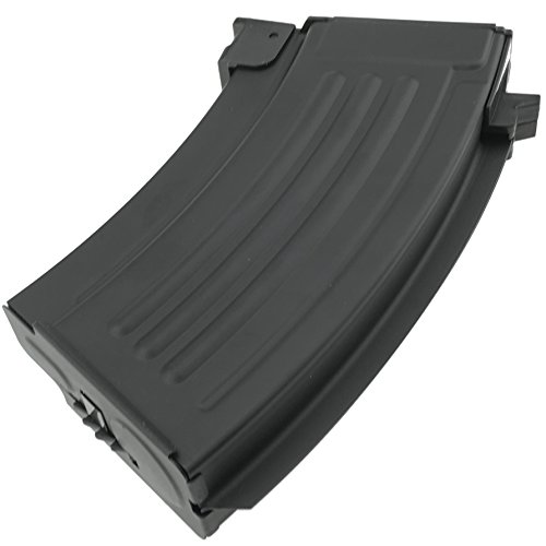 SportPro  7 SportPro CYMA 220 Round Metal Stubby High Capacity Magazine for AEG AK47 AK74 3 Pack Airsoft - Black