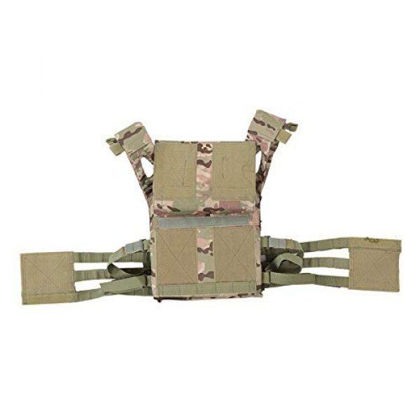 GXYWAN Airsoft Tactical Vest 4 GXYWAN Tactical Vest, Ghost Anti-War Vest Combat Uniform Camouflage Line Vest (Black)