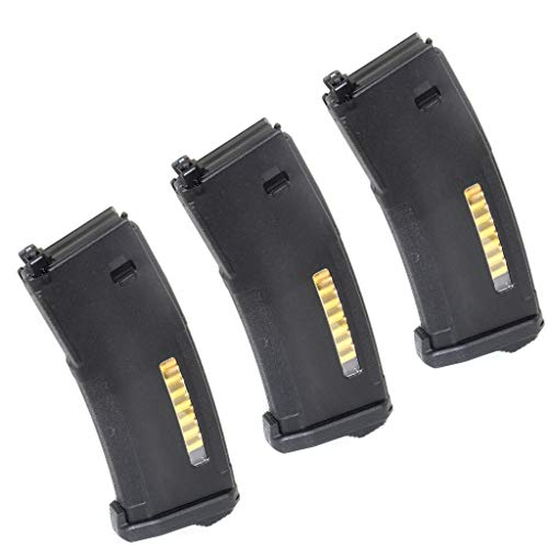 Generica  1 Airsoft Spare Parts PTS 3pcs EPM 120rd Enhanced Polymer Magazine for Systema PTW M4 M16 Series