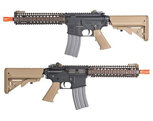 Wearable4U  2 Umarex MK18 Avalon Black/Tan AEG Electric Airsoft Rifle Gun with Wearable4U Bundle