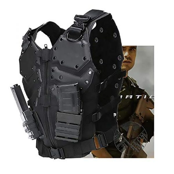 WEQ Airsoft Tactical Vest 5 WEQ Airsoft Tactical Vest Special Forces Chest Protector Vest Paintball Vest Outdoor Modular Combat Training Adjustable (Color : #B)