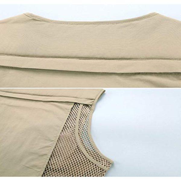 DAFREW Airsoft Tactical Vest 6 DAFREW Casual Vest Multi-Pocket Quick-Drying Vest mesh Breathable Vest Outdoor Leisure Fishing Photography Vest (Color : Green, Size : L)