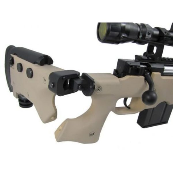 Prima USA Airsoft Rifle 4 well l96 heavy single bolt action spring airsoft sniper rifle with scope tan(Airsoft Gun)