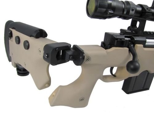 Prima USA  4 well l96 heavy single bolt action spring airsoft sniper rifle with scope tan(Airsoft Gun)